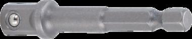 Bgs Technic Adapter voor boormachines aandrijving buitenzeskant 6,3 mm (1/4) / uitgaande buitenvierkant 10 mm (3/8)