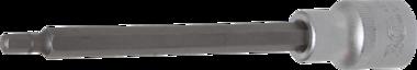 Bit-Einsatz Lange 140 mm Antrieb Innenvierkant 12,5 mm (1/2) Innensechskant