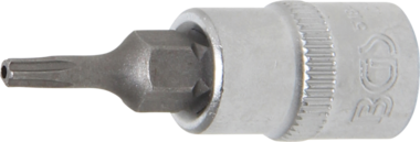 Bit-Einsatz Antrieb Innenvierkant 6,3 mm (1/4) TS-Profil (fur Torx Plus) mit Bohrung