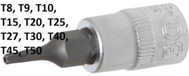 Bit-Einsatz Antrieb Innenvierkant 6,3 mm (1/4) T-Profil (fur Torx) mit Bohrung