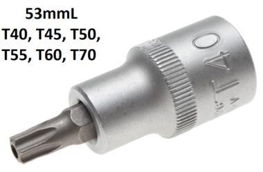 Bit-Einsatz Antrieb Innenvierkant 12,5 mm (1/2) T-Profil (fur Torx) mit Bohrung