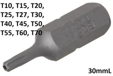 Bit Antrieb Außensechskant (5/16) T-Profil (fur Torx) mit Bohrung