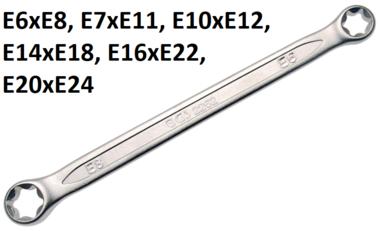 Doppel-Ringschlussel mit E-Profil-Ringkopfen SW