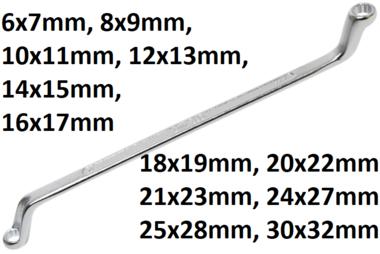 Doppel-Ringschlussel, gekropft SW
