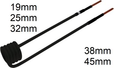 Induktions-Spule fur Induktionsheizgerat 90° abgewinkelt
