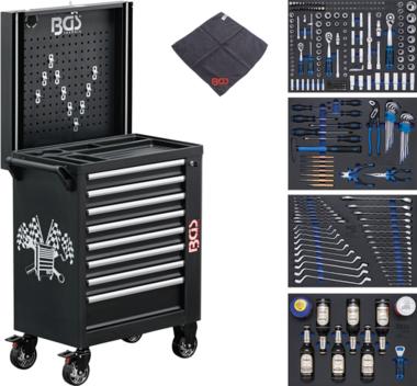 Werkstattwagen 8 Schubladen mit 263 Werkzeugen
