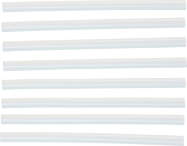 Heiyklebe-Patronen transparent durchmesser 11 mm, 200 mm 8-tlg