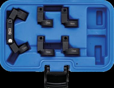 Rohr-Leitungsschlussel-Satz flexibel 5 Wechselkopfe Antrieb (3/8) SW 11 - 17mm