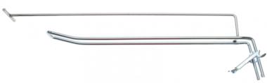 Wandhaken doppelt 300 x 4,8 mm mit Haltearm und Querstift