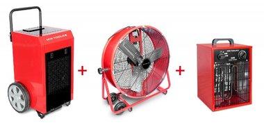 Set Trockner + Ventilator MV600L + Heizung 3,3kW