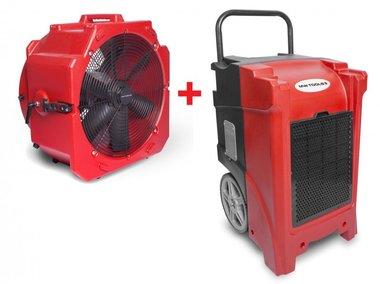 Trocknerset BDE90 + Ventilator MV500PP