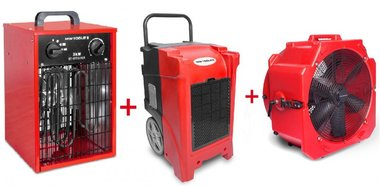 Trocknerset BDE90 + Ventilator MV500PP + Heizung