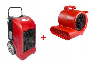 Bautrockner BDE70 + Ventilator RV3000
