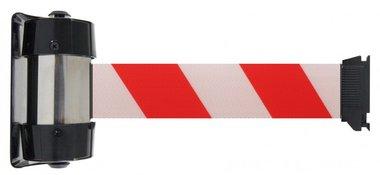 Absperrband weiy/rote Wandhalterung 4 Meter