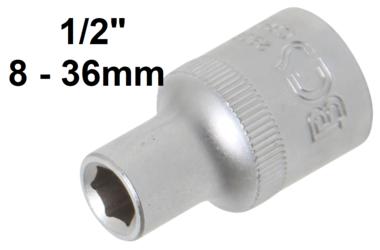 Steckschlüssel-Einsatz Sechskant Antrieb Innenvierkant 12,5 mm (1/2) SW
