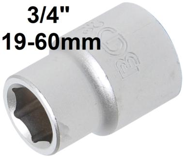 Steckschlussel-Einsatz Sechskant Antrieb Innenvierkant (3/4) SW