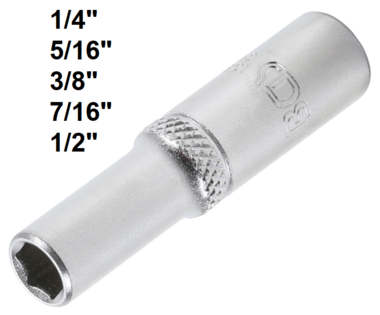 Steckschlussel-Einsatz Sechskant, tief Antrieb Innenvierkant 6,3 mm (1/4) SW