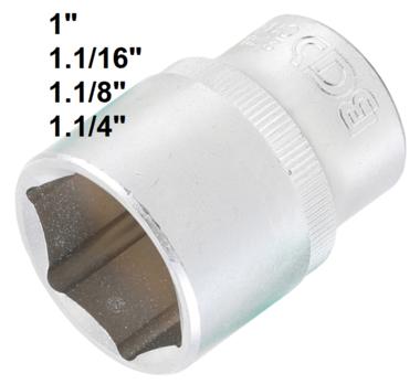 Steckschlussel-Einsatz Sechskant Antrieb Innenvierkant 12,5 mm (1/2) SW