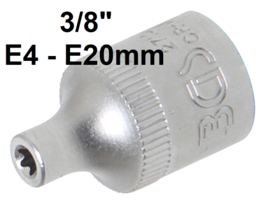 Steckschlussel-Einsatz E-Profil Antrieb Innenvierkant 10 mm (3/8) SW