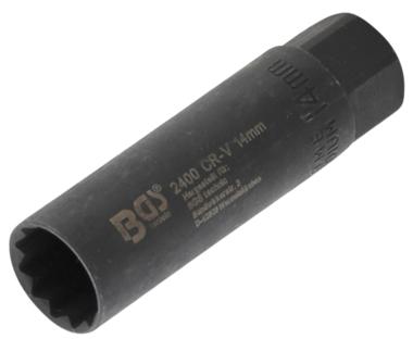 Zundkerzen-Einsatz Sechskant Antrieb Innenvierkant 10 mm (3/8) SW 14 mm