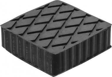 Bgs technic Rubberen pad  voor hefplatforms  116,5 x 116,5 x 36,5 mm