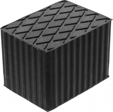 Bgs technic Rubberen pad  voor hefplatforms  160 x 120 x 115 mm