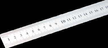 Stahl-Mastab biegsam Edelstahl rostfrei 0,5 m