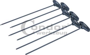 T-Griffschlusselsatz, 6-tlg., extra lang, tx-star T10-T30