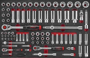 Steckschlüsselsatz in Weichschaum 88 tlg