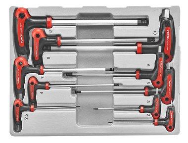 T-Griff Innensechskant Kugelkopf Schlüssel Satz 10 tlg