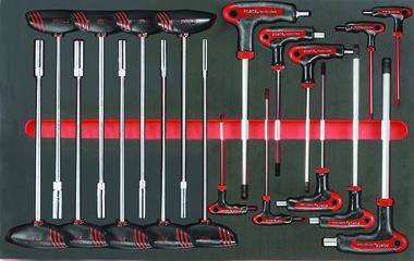 Sechskant Steckschlüssel & Innensechskant Schlüsselsatz in Weichschaum 19 tlg