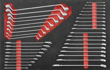 Schlüsselsatz in Weichschaum 36 tlg