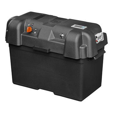 Batteriebox 35x18x23cm 2x USB - 1x 12V Steckdose - Voltmeter - 2x Anderson Stecker