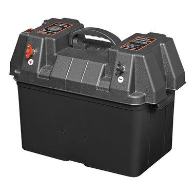 Batteriebox 33x20x20cm 2x USB - 2x 12V Steckdose - Voltmeter