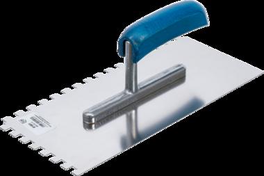 Zahnkelle rostfrei Rechteck-Zahnung 280 x 130 mm