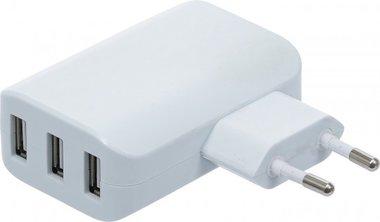 Universal USB-Ladegerat 3 USB-Ports max 3.4 A total max. 2.4 A / USB 110 - 240 V