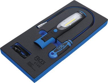 Werkstattwageneinlage 1/3: Handlampe und Magnetheberlampe 3-tlg