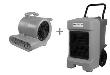 Paket BDE95 Bautrockner und RV3000 Bodenventilator