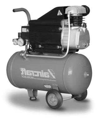 Mobiler Kompressor 8 bar 25l 113l/min