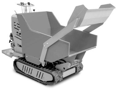 Mini-Hydrostatischer Kettendumper mit Ladekasten 500kg