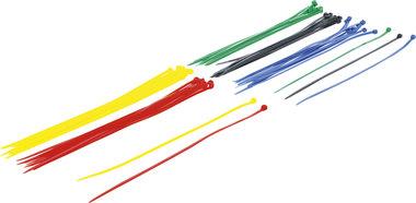 Kabelbinder-Sortiment farbig 4,8 x 300 mm 50-tlg