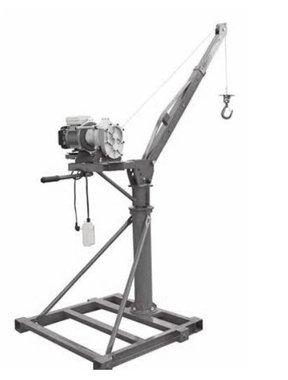 Mobilkran 500 kg mit 230-Volt-Elektrowinde