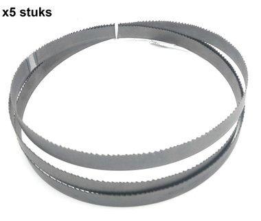 Bandsägeblätter hss - 13x0,65-1638mm feste Zähne 6 x5 stuks