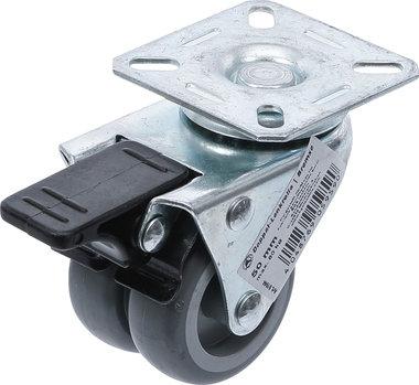 Doppel-Lenkrolle mit Bremse Ø 50 mm