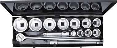 Steckschlussel-Satz Antrieb 25 mm (1) SW 36 - 80 mm 15-tlg