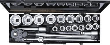 Steckschlussel-Satz Antrieb 20 mm (3/4) SW 19 - 50 mm 20-tlg