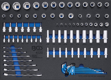 Steckschlussel-Einsatze / Maul-Ringschlussel Zollgroßen 90-tlg