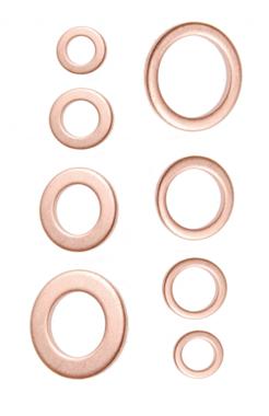 Dichtring-Sortiment Kupfer 150-tlg.