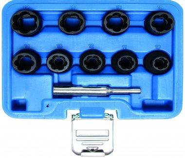 Spezial-Steckschlüssel-Einsätze , 10-19 mm, 12.5 (1/2), 10-tlg.