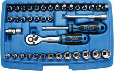 Steckschlüssel-Satz Gear Lock Antrieb 6,3 mm (1/4) 39-tlg